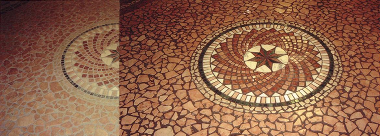 Marmormosaik-Pflege